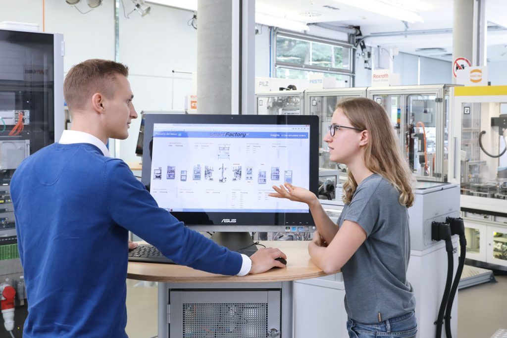 All values of the production plant are updated in real-time and are displayed in one system.