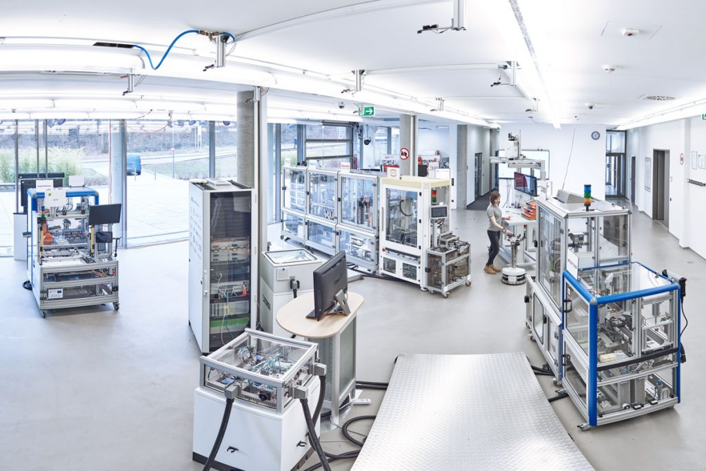 The SmartFactoryKL Industrie 4.0 production plant in 2017